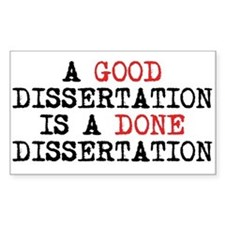 Dissertation Decal