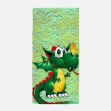 Baby Dragon Cute Cartoon Beach Towel