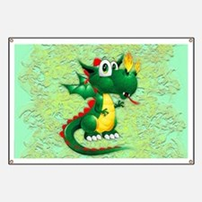 Baby Dragon Cute Cartoon Banner