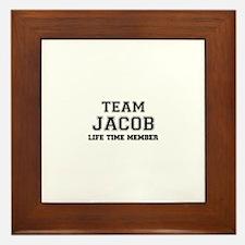 Team JACOB, life time member Framed Tile