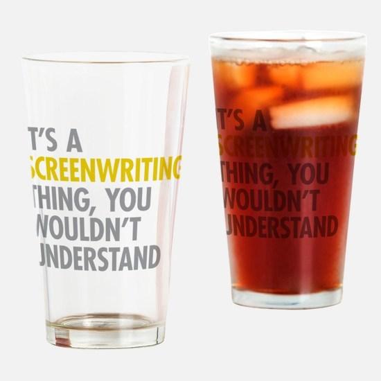 Screenwriting Drinking Glass