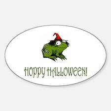 Hoppy Halloween Oval Decal