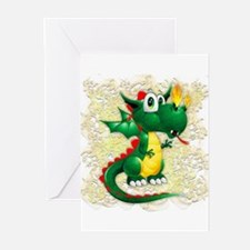 Baby Dragon Cute Cartoon Greeting Cards