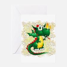Baby Dragon Cute Cartoon Greeting Cards