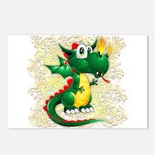Baby Dragon Cute Cartoon Postcards (Package of 8)