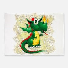Baby Dragon Cute Cartoon 5'x7'Area Rug