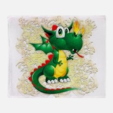 Baby Dragon Cute Cartoon Throw Blanket