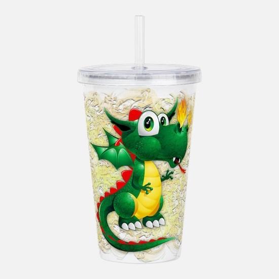 Baby Dragon Cute Cartoon Acrylic Double-wall Tumbl