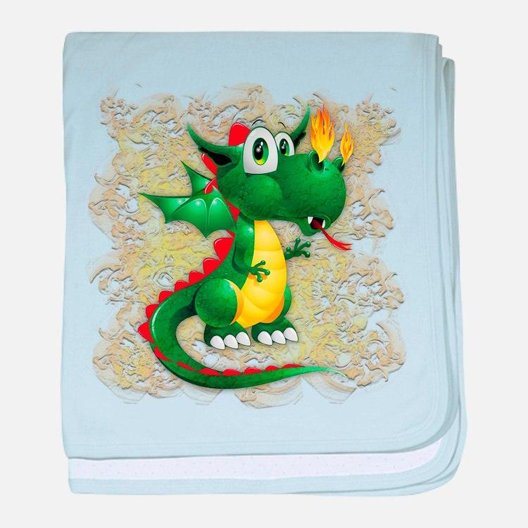 Baby Dragon Cute Cartoon baby blanket