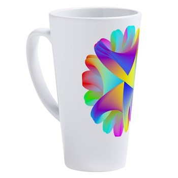Twisted Rainbow 17 oz Latte Mug