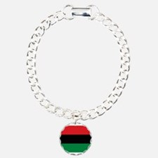 African American Flag - Charm Bracelet, One Charm