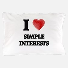 I Love Simple Interests Pillow Case