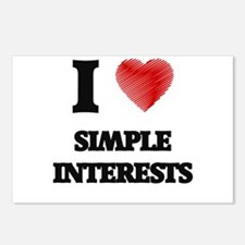 I Love Simple Interests Postcards (Package of 8)