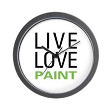 Live Love Paint Wall Clock