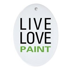 Live Love Paint Oval Ornament