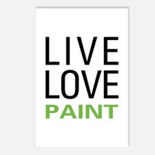 Live Love Paint Postcards (Package of 8)