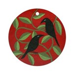 Two Crows Ornament (Round)