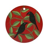 Crow Round Ornaments
