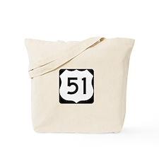 US Highway 51 Tote Bag