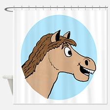 Horse Logo Shower Curtain