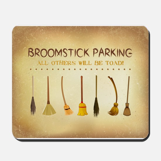 BROOMSTICK PARKING Mousepad