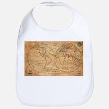 Vintage Map of The World (1833) 2 Bib