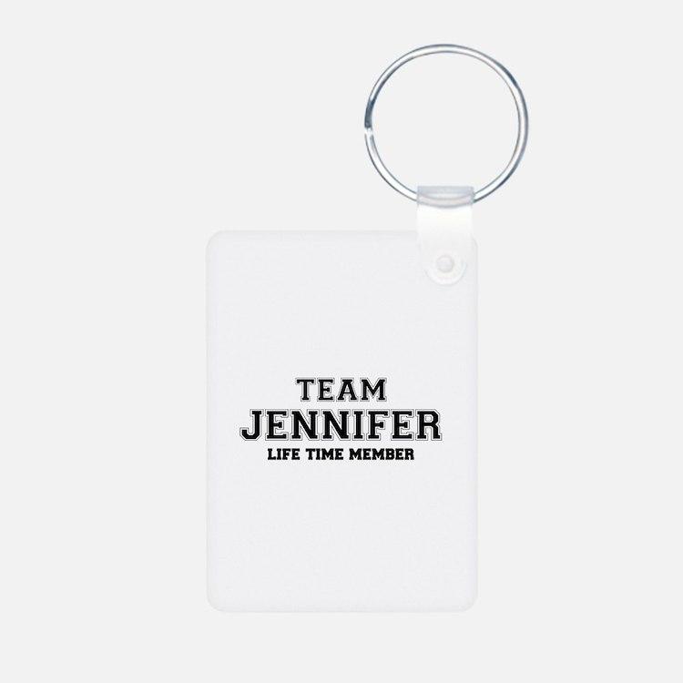 Team JENNIFER, life time member Keychains