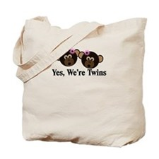 Twins Baby Monkeys 2 Girls Tote Bag