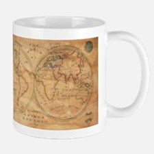 Vintage Map of The World (1833) 2 Mugs