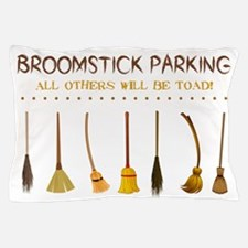 BROOMSTICK PARKING Pillow Case