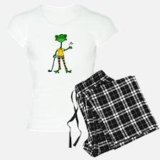 Funny Frog Golfer pajamas