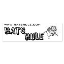 Rats Rule Dumbo Bumper Car Sticker