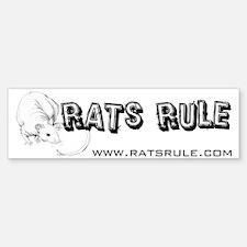 Rats Rule Hairless Bumper Bumper Bumper Sticker