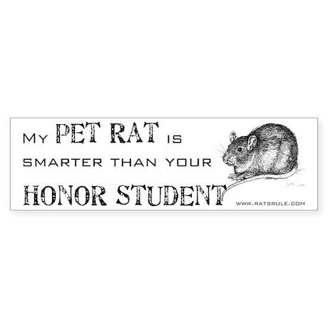 Smarter Pet Rat Bumper Sticker