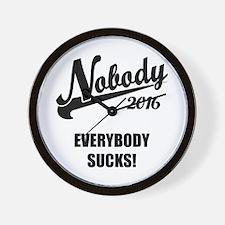 Nobody 2016 Wall Clock
