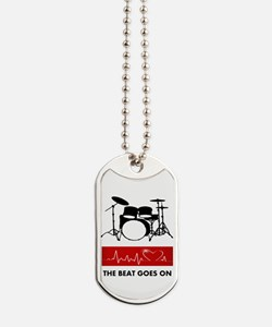 Heartbeat of a Drummer Dog Tags