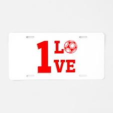 1 Love Aluminum License Plate
