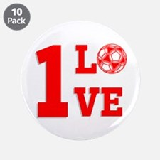 """1 Love 3.5"""" Button (10 pack)"""