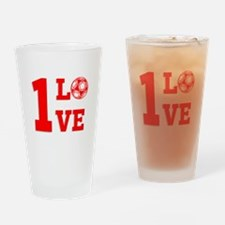 1 Love Drinking Glass