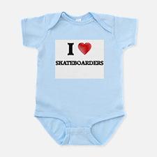 I Love Skateboarders Body Suit