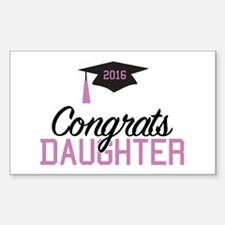 Congrats Daughter Sticker (Rectangle)