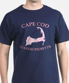 Preppy Pink Cape Cod Massachusetts T-Shirt