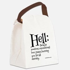 Funny Atheist quotes Canvas Lunch Bag
