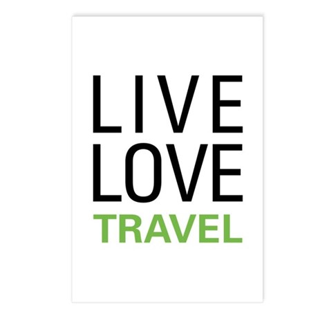 Live Love Travel Postcards (Package of 8)