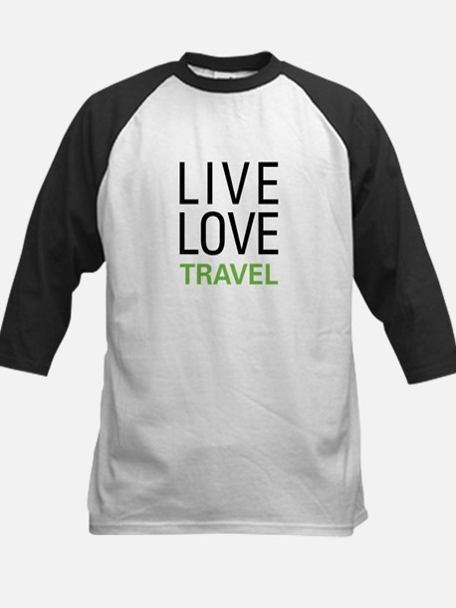 Live Love Travel Kids Baseball Jersey