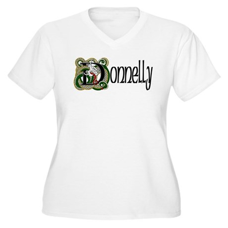 Donnelly Celtic Dragon Women's Plus Size V-Neck T-