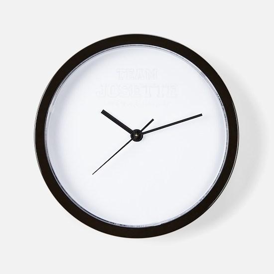 Team JOSETTE, life time member Wall Clock