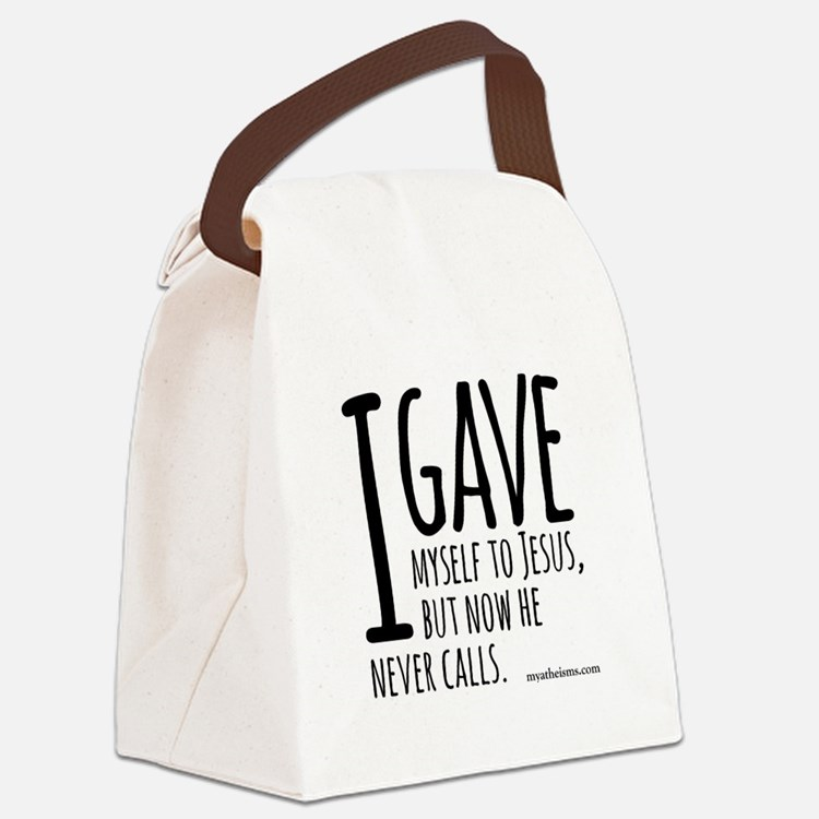 Cute Atheist quotes Canvas Lunch Bag