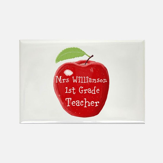 Personalised Teacher Apple Painting s Magnets