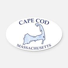 Preppy Vintage Blue Cape Cod Oval Car Magnet